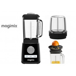 Magimix Power Blender Black with Citrus Press and Mill Attachment