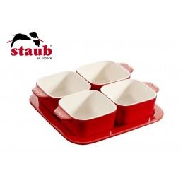 Staub Set Aperitivo 5 Pz 19 x 19 cm Ceramica Rosso 40511-119-0