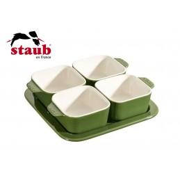 Staub Set Aperitivo 5 Pz 19 x 19 cm Ceramica Verde 40511-120-0