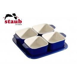 Staub Set Aperitivo 5 Pz 19 x 19 cm Ceramica Blu Scuro 40511-121-0