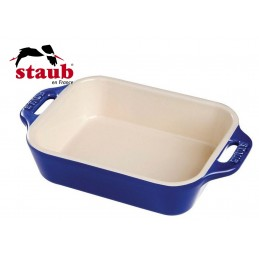 Staub Pirofila Rettangolare Ceramica 34x24 cm Blu Scuro 40511-149-0