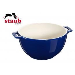 Staub Ciotola Servizio Rotonda Ceramica 25 cm Blu Scuro 40511-455-0