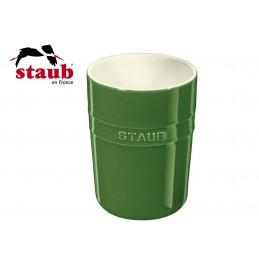 Staub Ceramic Kitchen Utensil Holder 11 cm Green Basil 40511-579-0
