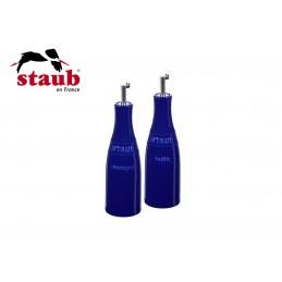 Staub Ceramic Oil and Vinegar Set Dark Blue 40511-789-0