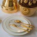 Christofle Mood Gold Set Posate 24 Pz Metallo Dorato 24 Carati