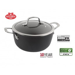 Ballarini Alba Pan 24 cm 2 Handles with Lid Non-stick 5 Layers