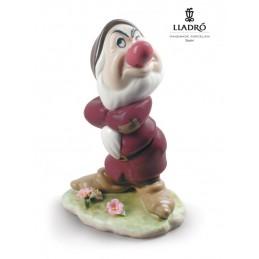 Lladrò Grumpy Snow White Dwarf Figurine 01009323