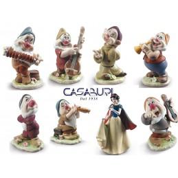Lladro Disney Set Snow White with 7 Snow White Dwarfs Figurines