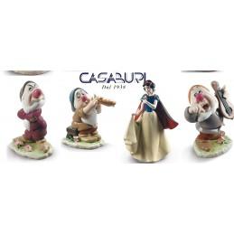 Lladro Disney Set Snow White with 3 Snow White Dwarfs Figurines