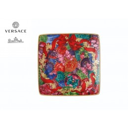 Versace Rosenthal Reflections of Holidays Square Bowl Flat 12 cm