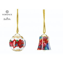 Versace Rosenthal Reflections of Holidays Set Ball and Bell 2018