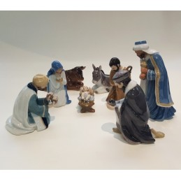 Royal Copenhagen Figurine Nativity Set 8 Pcs