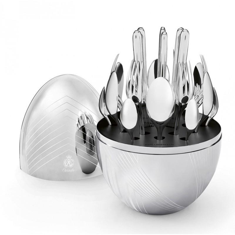 Christofle MOOD KARL LAGERFELD Cutlery Set 24 Pcs 00066299