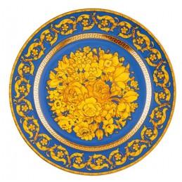 Versace Plate 22 cm Floralia Blue 25th Anniversary