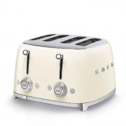 Smeg 4 Slice Toaster 4 large Slots Cream 50's Retro Style Aesthetic