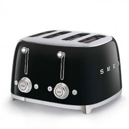 Smeg 4 Slice Toaster 4 large Slots Black 50's Retro Style Aesthetic
