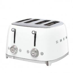 Smeg 4 Slice Toaster 4 large Slots White 50's Retro Style Aesthetic