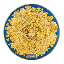 Versace Rosenthal Medusa Rhapsody Blue Plate 17 cm