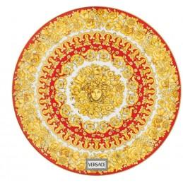 Versace Rosenthal Medusa Rhapsody Red Service Plate 33 cm