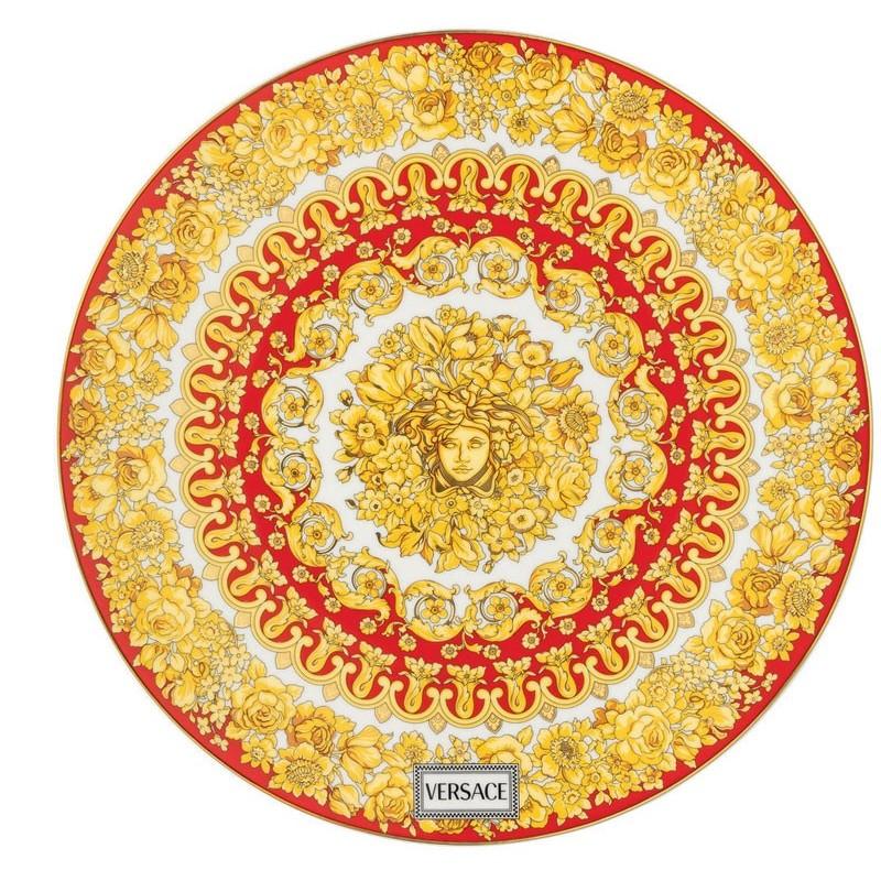 Versace Medusa Rhapsody Red Piatto Segnaposto 33 cm
