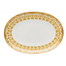 Versace Rosenthal Medusa Rhapsody Oval Platter 33 cm