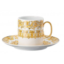 Versace Rosenthal Medusa Rhapsody Coffee Cup with Saucer