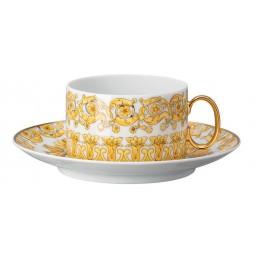 Versace Rosenthal Medusa Rhapsody Tea Cup with Saucer