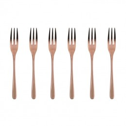 Sambonet Taste PVD Copper Set 6 Forchettine Dolce