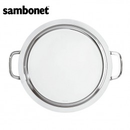 Sambonet Elite Round Tray with Handles 35 cm 56030-35 Stainless Steel
