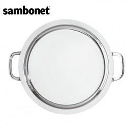 Sambonet Elite Vassoio Tondo con Manici 35 cm 56030-35 Acciaio Inox