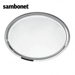 Sambonet Elite Oval Tray 49 x 37 cm Stainless Steel 56025-49