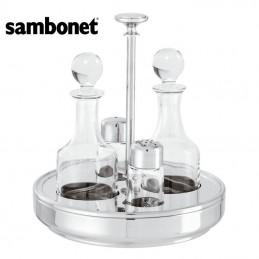 Sambonet Elite Cruet Set, 4 Pcs 19 cm 56065-04