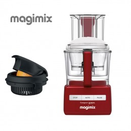 Magimix Food Processor Compact 3200 XL Red with Citrus Press