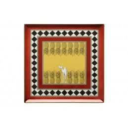 Richard Ginori Totem Piatto Svuotatasche Quadrato Cammello 30 cm