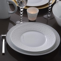 Bernardaud Ecume White Dinnerware Set 18 Pcs Limoges Porcelain