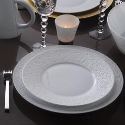 Bernardaud Ecume White Dinnerware Set 18 Pcs Limoges Porcelain