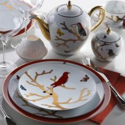 Bernardaud Aux Oiseaux Dinnerware Set 18 Pcs Limoges Porcelain