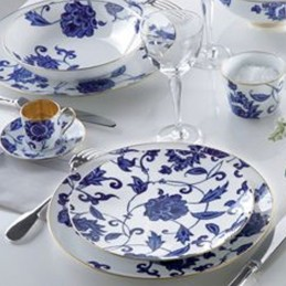 Bernardaud Prince Bleu Dinnerware Set 18 Pcs Limoges Porcelain