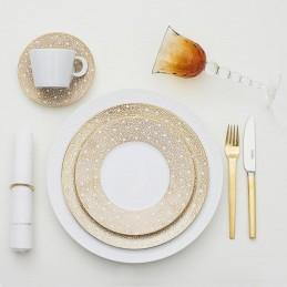 Bernardaud Ecume Mordore Dinnerware Set 18 Pcs Limoges Porcelain