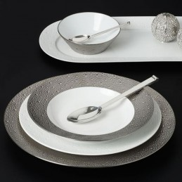 Bernardaud Ecume Platine Dinnerware Set 18 Pcs Limoges Porcelain