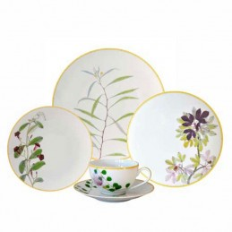 Bernardaud Jardin Indien Dinnerware Set 30 Pcs Limoges Porcelain