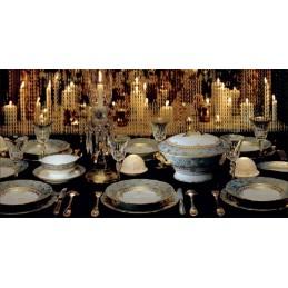 Bernardaud Eden Turquoise Dinnerware Set 18 Pcs Limoges Porcelain