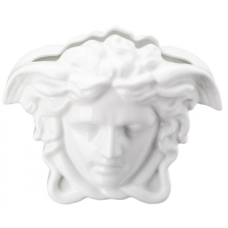 Versace Medusa Grande Vaso 21 cm Bianco