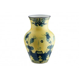 Richard Ginori Oriente Italiano Citrino Ming Vase H. 25 cm - 9 In