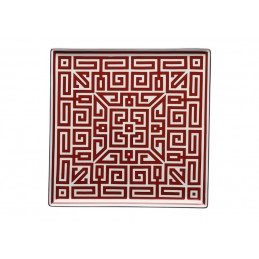 Richard Ginori Labirinto Scarlatto Piatto Svuotatasche 30 cm