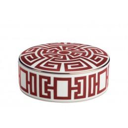 Richard Ginori Labirinto Scarlatto Round Box 13 cm with Cover - 5 In