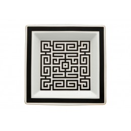 Richard Ginori Labirinto Nero Svuotatasche Quadrato 24, 5 cm