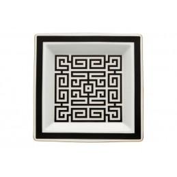 Richard Ginori Labirinto Nero Vide Poche Plate 24, 5 cm - 9 1 / 2 In