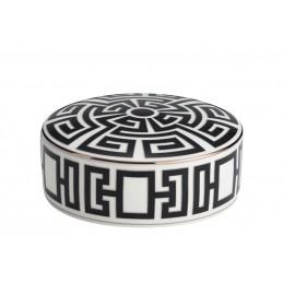 Richard Ginori Labirinto Nero Round Box 13 cm with Cover - 5 In
