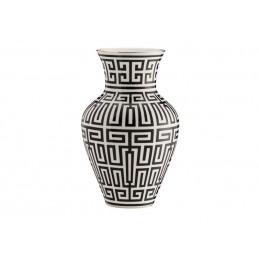 Richard Ginori Labirinto Nero Ming Vase H. 30 cm - 12 In